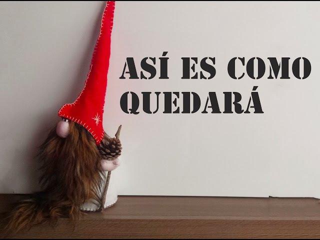 Adorno navideño 5 /COMO HACER GNOMOS DIY/ Felted Gnomes Gnomos de fieltro