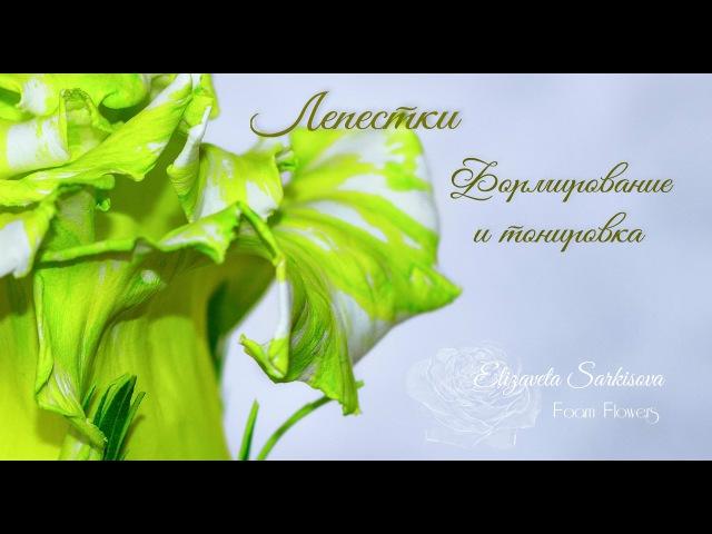 Мастер-класс Роза Саванна из фоамирана. Лепестки