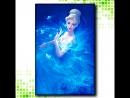 Видео алмазная вышивка - мозаика Девушка в голубом
