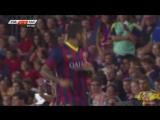 Кубок Гампера 2013  Барселона - Сантос  1 тайм