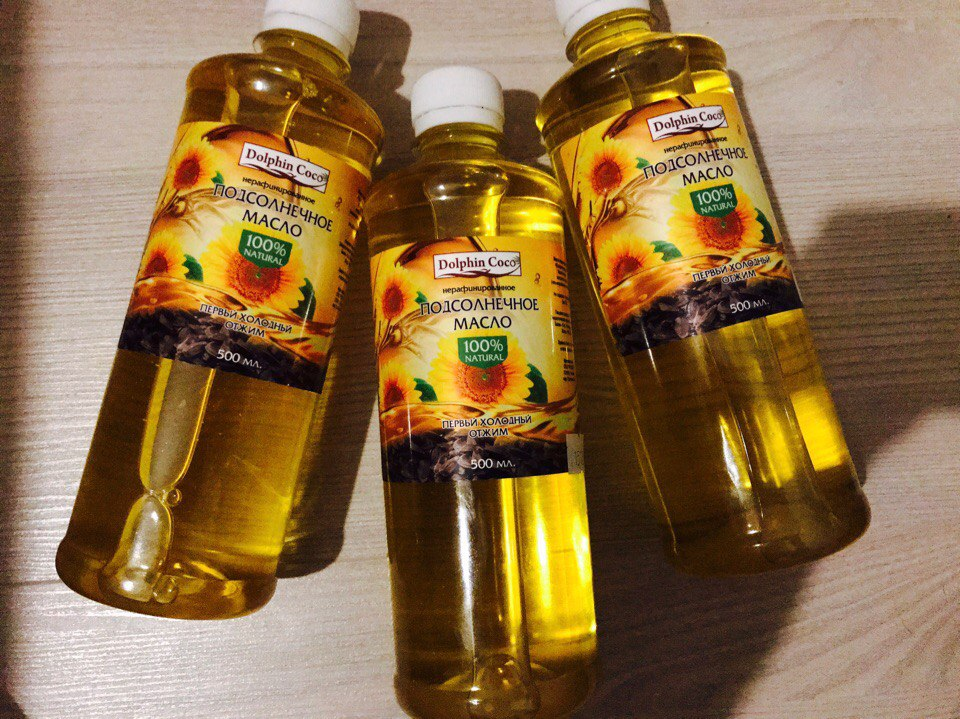 подсолнечное масло (500 мл)
