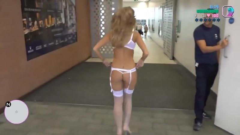 GTA В Реальной Жизни (Sexy Версия) Голые Блондинки чулки сексуальные ножки