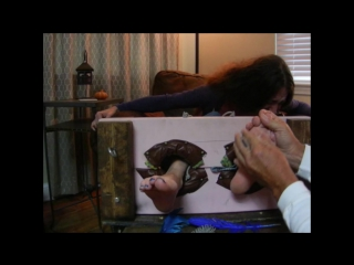 Mature Emmy ALL OUT Feet tickled stocks!