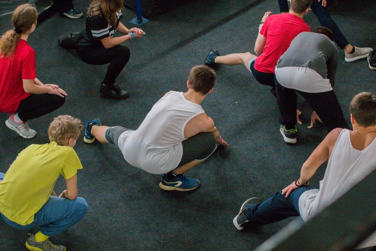 Открытие тренировок в паркур-парке на Нагатинской