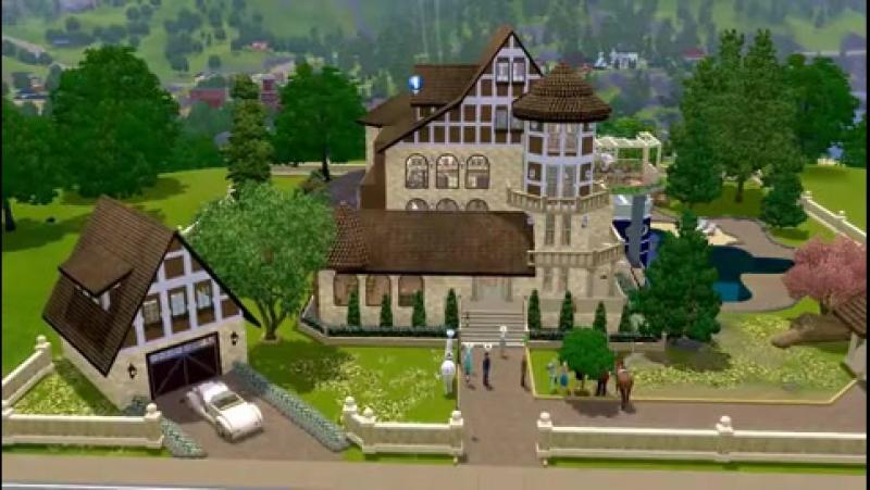 The Sims 3 - Дом с сюрпризами - строим сами
