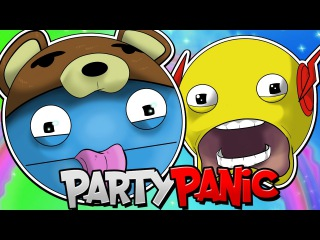 HARDCORE BOTS VS SQUIDDY & ASH!! | Party Panic [#4]