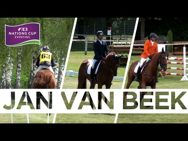 Jan van Beek - Netherlands' top performer | FEI Nations Cup™ Eventing - Wiener Neustadt