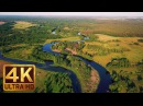 30 min - 4K Drone Aerial Footage - Relax Video with Soothing Music - Charming Ukrainian Rivers