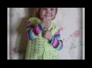 ажурный жилет крючком на девочку 4х лет