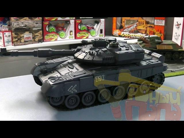 Обзор танкового боя Zegan 99820 T-90 vs King Tiger 1:28