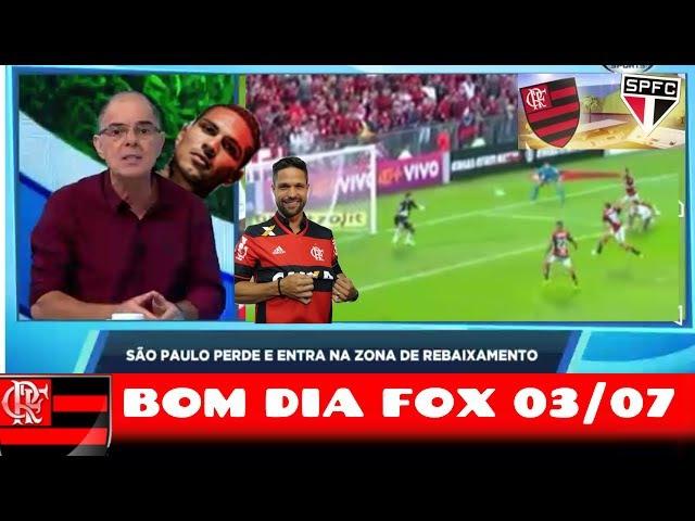 FLA JOGA DE TERNO VENCE SP E COMENTA GOLAÇOS BOM DIA FOX 03 07 FLAMENGO NA ILHA