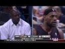 LeBron James vs Michael Jordan - LeBron James Stares Down Michael Jordan While Dunk