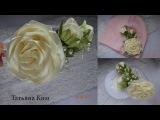 Нежный ободок с розой из ленты 2.5 смDelicate Headband with a rose of 2.5 cm tape