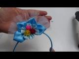 Moños en cinta y tulle faciles para decorar diademas