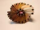 Брошь на основе зефирки МК/ DIY Elegant brooch from ribbons