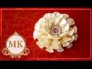 Цветок из узкой ленты шириной 1,2 см. МК./ DIY Flower of the narrow tape width of 1.2 cm.
