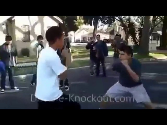 Boxer knocks out street fighter