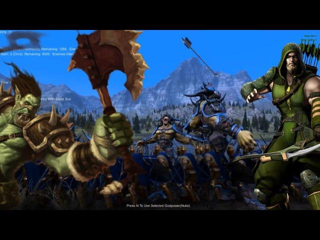 UEBS Epic Massive Battle - Minas Tirith, elves vs orcs ogres - ultimate epic battle sim gameplay