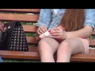 засвет девушки в парке
