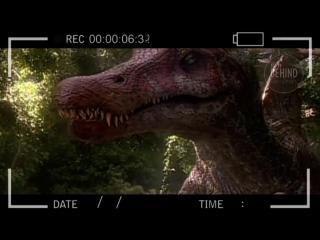 Кадры со съемок фильма Парк Юрского Периода. Полное отсутствие компьютерной графики!