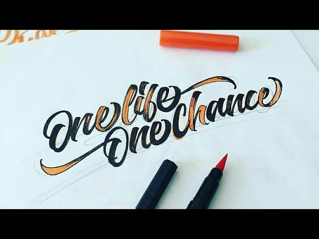 Best Brush Pen Calligraphy Compilation 2016