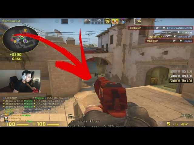 BEST VIEWMODEL EVER STEWIE2K IS NUTS 1HP PHOON CLUTCH INSANE 1v5 CLUTCH CS GO PLAYS 17