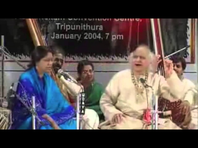 Raga Bhairavi Sumiran Kar Le Live Pandit Jasraj and Dr. and Mrs L Subramaniam