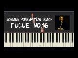 Johann Sebastian Bach - Fugue No.16 - Piano Tutorial by Amadeus (Synthesia)