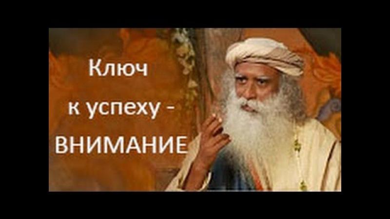 Садгуру - Ключ к успеху - Внимательность (Джагги Васудев)