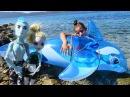 Kızoyuncakları Monster High kurtarma ekibi yunusu kurtarıyor 🐬 DENİZ MACERALARI