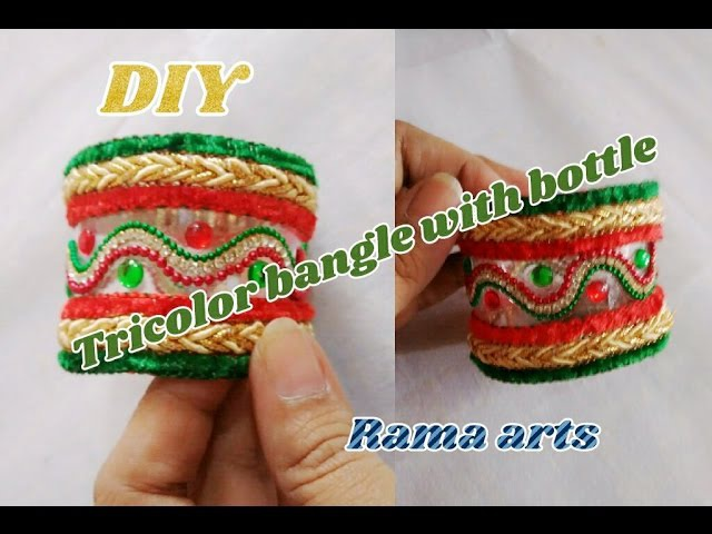 Tricolor bangle making with waste plastic bottle | jewellery tutorials