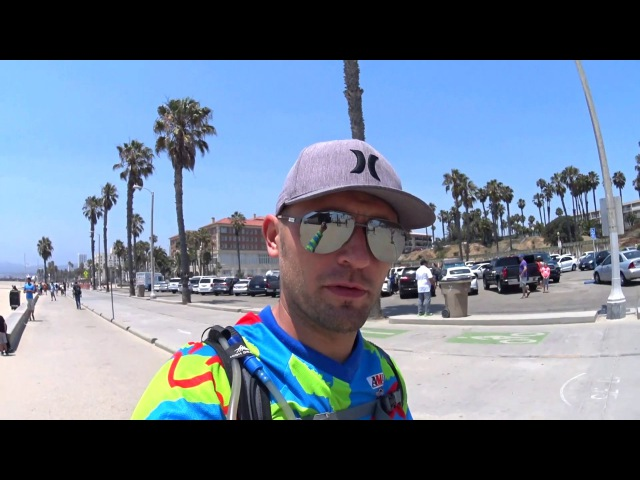 Прогулка по Gold's Gym, Muscle Beach, Санта-Моника пирс