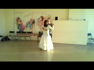 репетиция свадебного танца Наталья и Сергей. Хореограф Элла Соколова