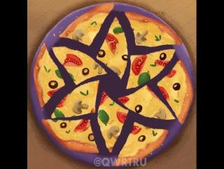 Как разрезать пиццу по-научному!