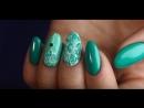 Дизайн ногтей Малахитовая мозаика с гель-лаками Lianail
