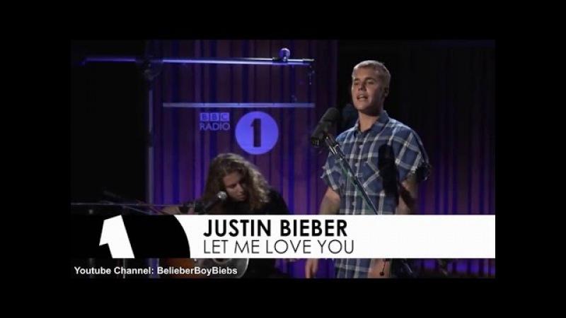 Justin Bieber Let Me Love You (Acoustic) I BBC Radio Live