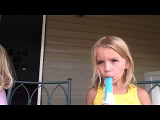 Kennedi and Maci's Popsicle review