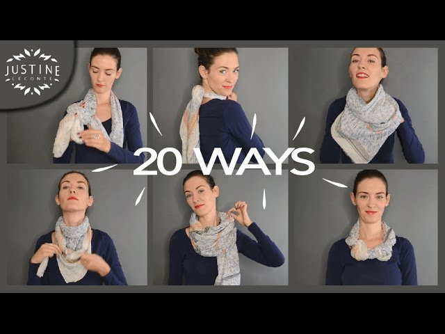 20 ways to wear a scarf what they're good for   Justine Leconte