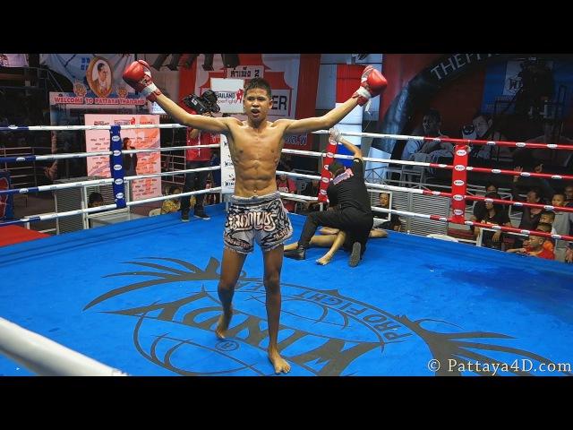 KO Fight MuayThai Boxing at Superfight Thepprasit Pattaya 17 October 2013