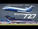 Aviation Video BOEING 727 London Stansted Airport Rare B727 Plane Spotting