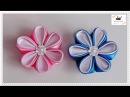 Kwiat ze wstążki 🌼 kanzashi 🌼jak wykonać🌼krok po kroku🌼67