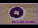 Flor de liston balnco/ morado