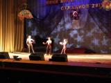 Выступление акробатов на конкурсе мини-мисс Стаханов
