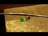 Изготовили кольцо 💍 с натуральным изумрудом🍏🍐🍈🎾💚белое золото