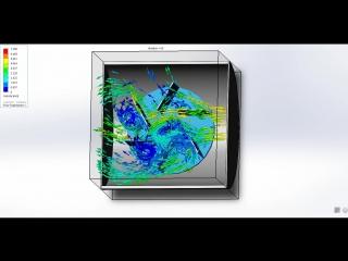 Розрахунок швидкості потоку в SolidWorks Flow Simulations
