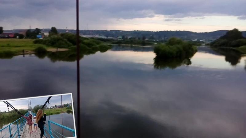 5 августа, река Чусовая. три внучки не устали после рыбалки, веселятся