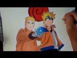 Speed Drawing - Boruto e Naruto (Boruto_ Naruto The Movie)