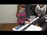 25.01.17г. Аня Светлова играет на фортепиано.