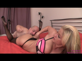 Anabelle - chastity slave sucks cum from thong
