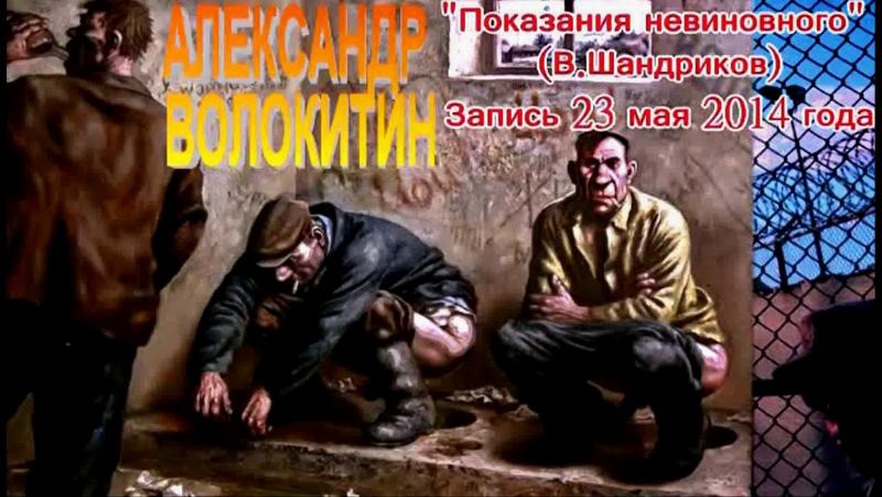 Александр Волокитин ПОКАЗАНИЯ НЕВИНОВНОГО В Шандриков Запись 23 мая 2014 года